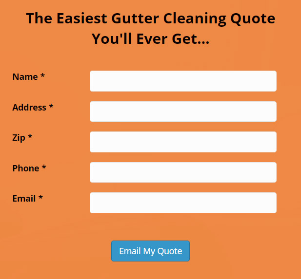 gutter cleaning quote form